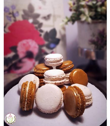 Gold & White Macarons