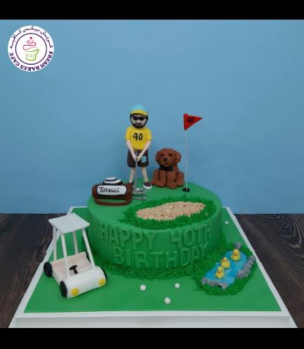 Golf Themed Cake - Character - Man 03b