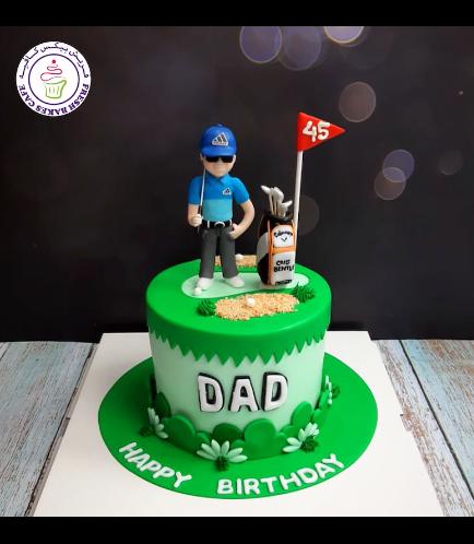 Golf Themed Cake - Character - Man 06b