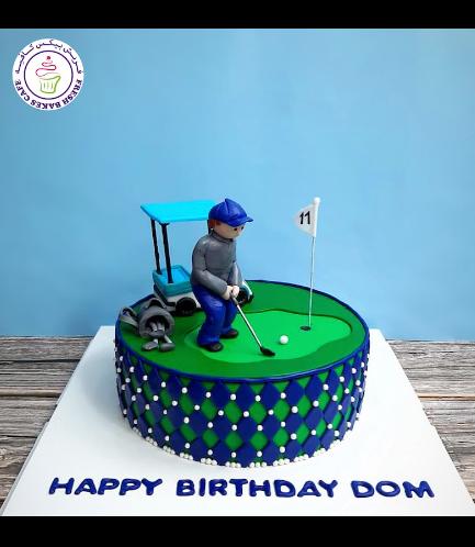 Golf Themed Cake - Character - Boy