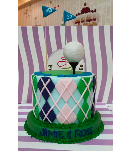 Golf Themed Cake - Golf Ball
