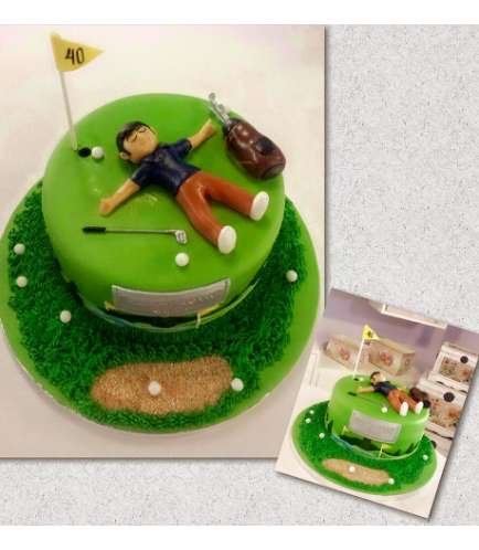 Golf Themed Cake - Character - Man 01
