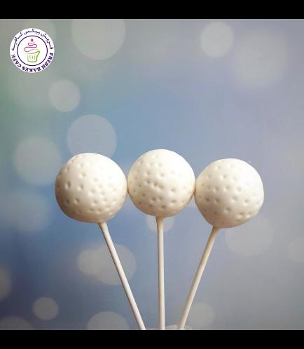 Golf Themed Cake Pops - Golf Balls