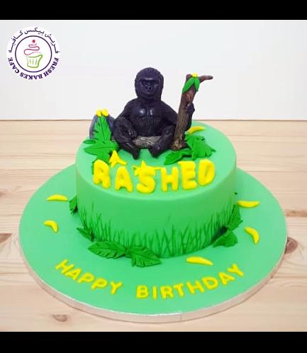 Gorilla Themed Cake - 3D Cake Topper