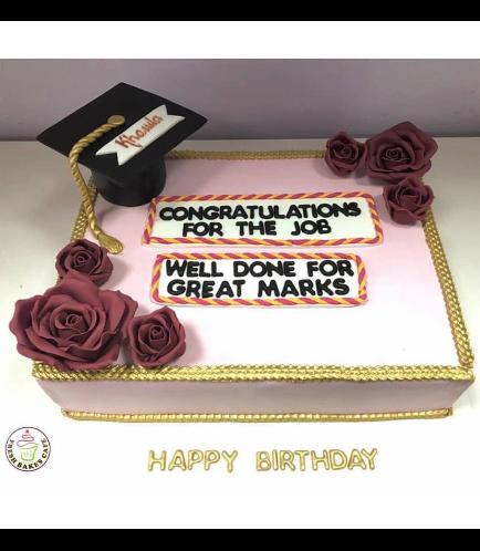Cake - Roses - Rectangular Cake