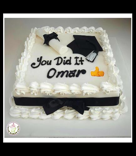 Cake - Graduation Cap - 2D Cake Topper - Square Cake