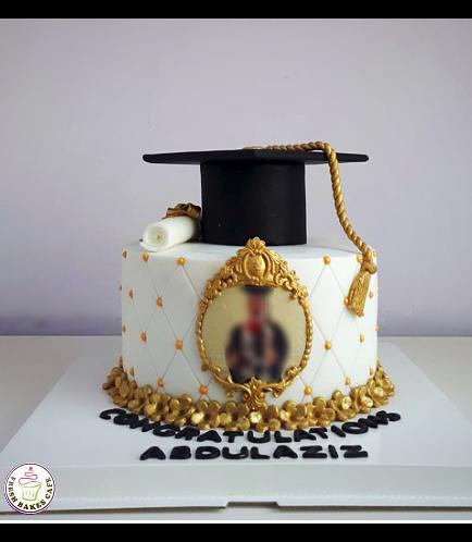 Cake - Flowers - 3D Cap Cake Topper - 1 Tier 03 - Frame