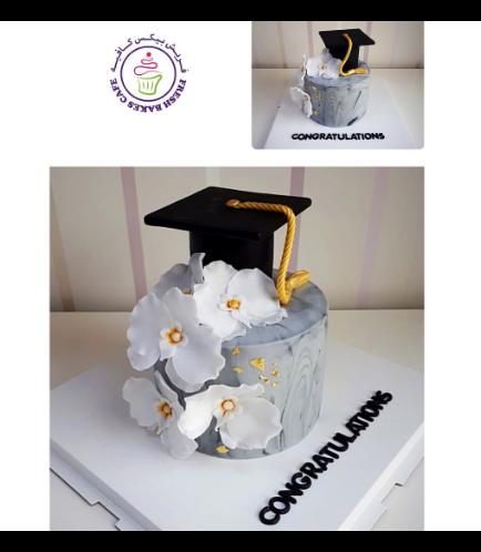 Graduation Themed Cake 58a