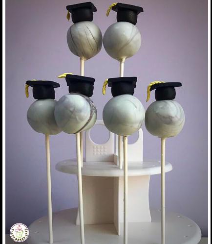 Graduation Themed Cake Pops 5