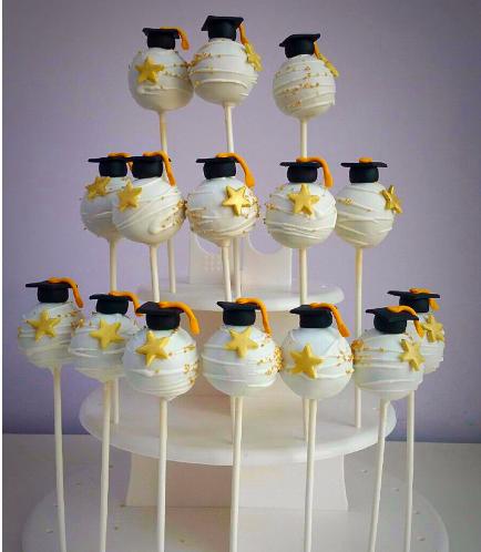 Graduation Themed Cake Pops 6