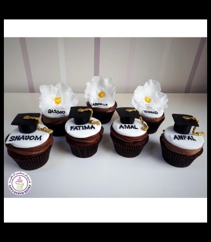 Cupcakes - Graduation Cap & Orchid