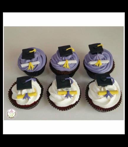 Cupcakes - Graduation Cap & Diploma 01