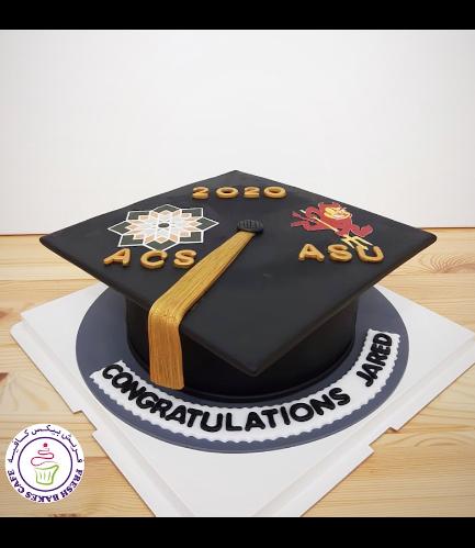 Cake - Graduation Cap - 3D Cake - Printed Pictures