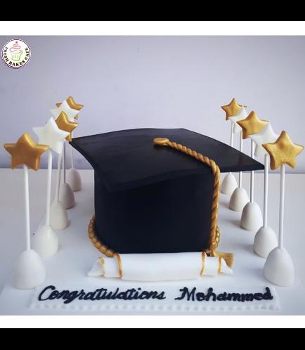 Cake - Graduation Cap - 3D Cake 02