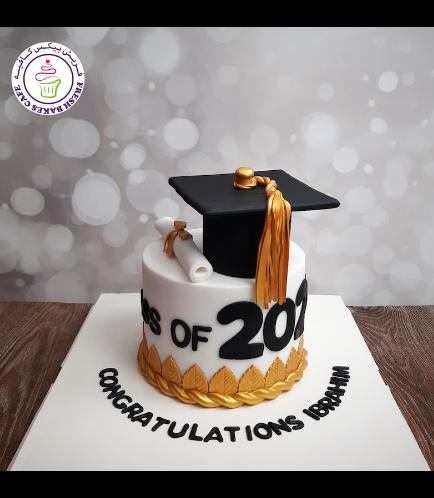Cake - Graduation Year - Cap & Diploma - Big 02