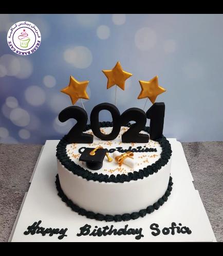 Cake - Graduation Year - Cap & Diploma - Small