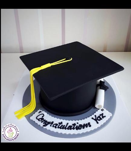 Cake - Graduation Cap 3D Cake 01