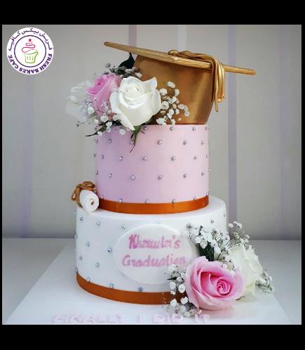 Cake - Natural Roses - 2 Tier