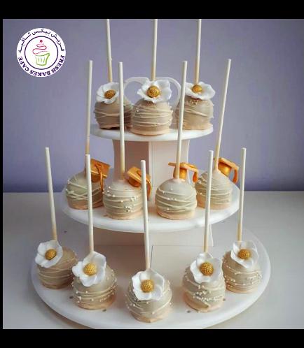 Cake Pops - Graduation Caps - Flowers 01