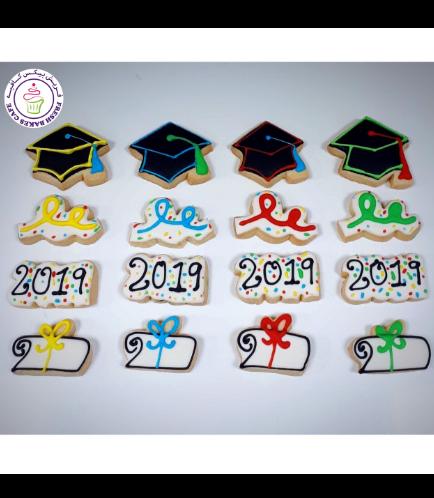 Cookies - Minis - Graduation Caps & Diplomas