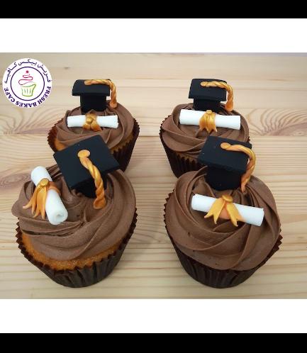 Cupcakes - Graduation Cap & Diploma 02a