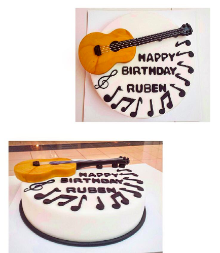 Guitar Themed Cake - 3D Cake Topper