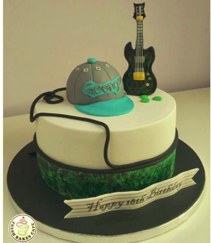 Guitar Themed Cake 5