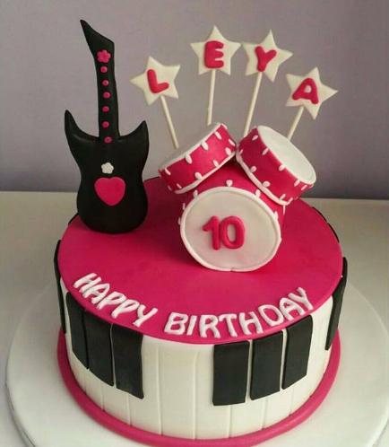 Guitar Themed Cake 02
