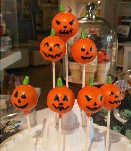 Cake Pops - Jack-O-Lantern