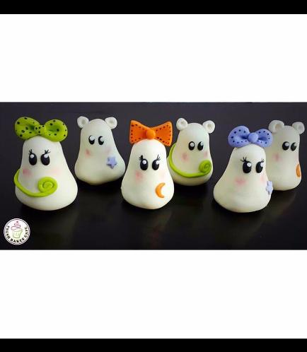 Cake Pops w/o Sticks - Mice Ghosts