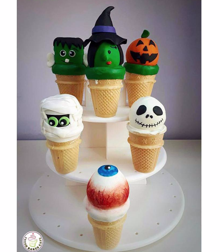 Halloween Themed Cone Cake Pops 2