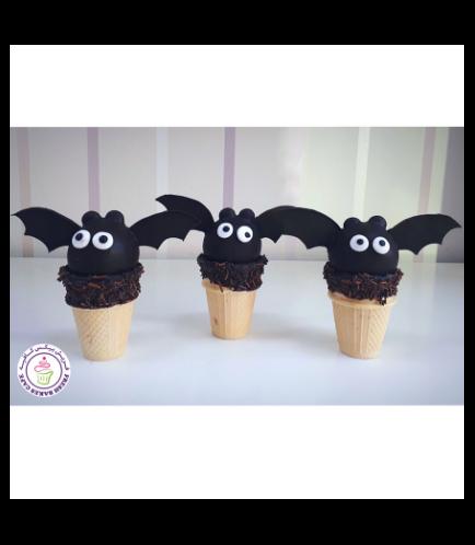 Cone Cake Pops - Bats