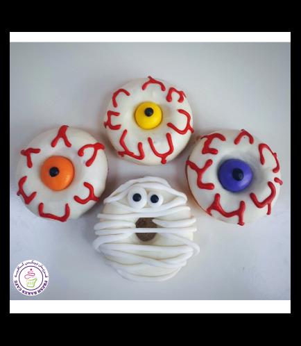 Halloween Themed Donuts - Eyeballs & Mummy