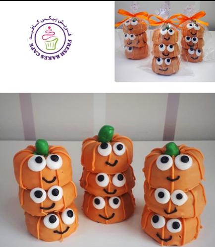 Halloween Themed Donuts - 3 Minis - Pumpkins
