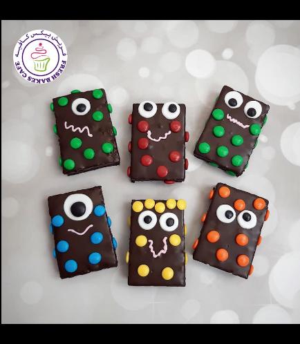 Halloween Themed Brownies - Monsters