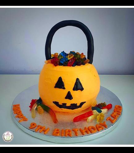 Cake - Jack-O-Lantern - 3D Cake - Cream
