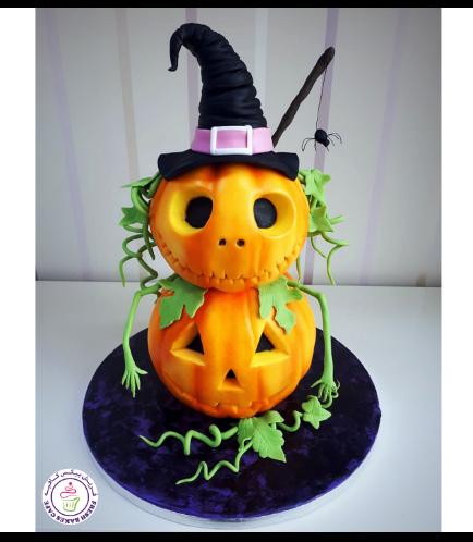 Cake - Jack-O-Lantern - 3D Cake - Fondant - 2 Tier