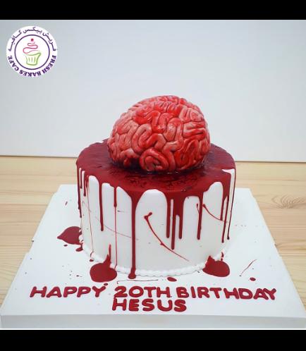 Cake - Brain - 3D Cake Topper