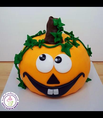 Cake - Jack-O-Lantern - 3D Cake - Fondant Piñata Cake