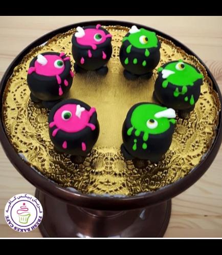 Cake Pops w/o Sticks - Witch Cauldrons