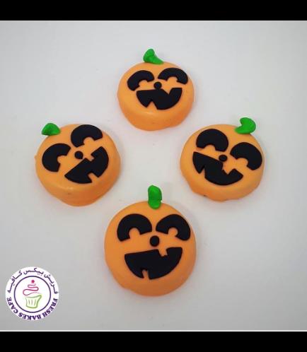 Halloween Themed Chocolate Covered Oreos - Jack-O-Lantern 02