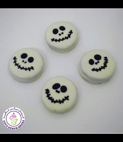 Halloween Themed Chocolate Covered Oreos - Jack Skellignton 02