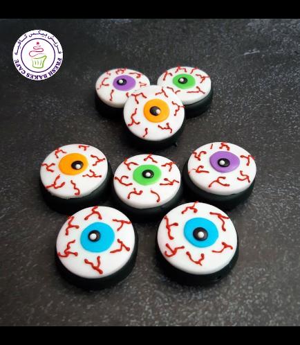 Halloween Themed Chocolate Covered Oreos - Eyeballs