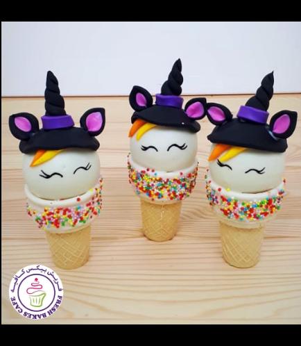 Cone Cake Pops - Halloween 02