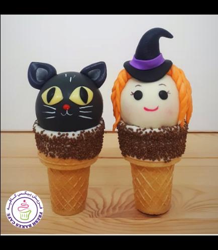 Cone Cake Pops - Black Cat & Witch