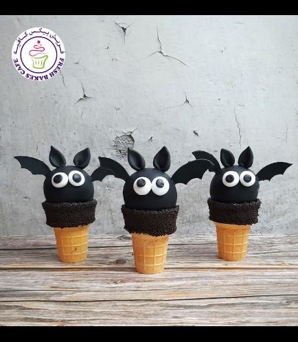 Halloween Themed Cone Cake Pops - Bats