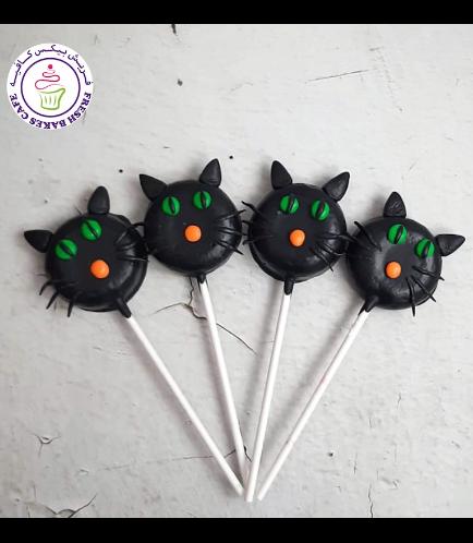 Halloween Themed Donut Pops - Black Cats