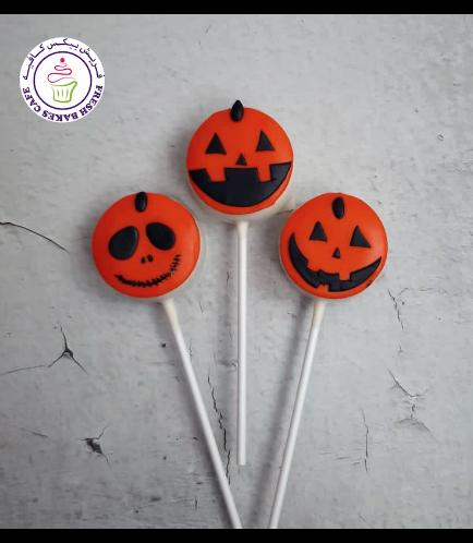 Halloween Themed Donut Pops - Jack-O-Lantern 01