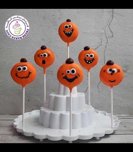 Halloween Themed Donut Pops - Jack-O-Lantern 02