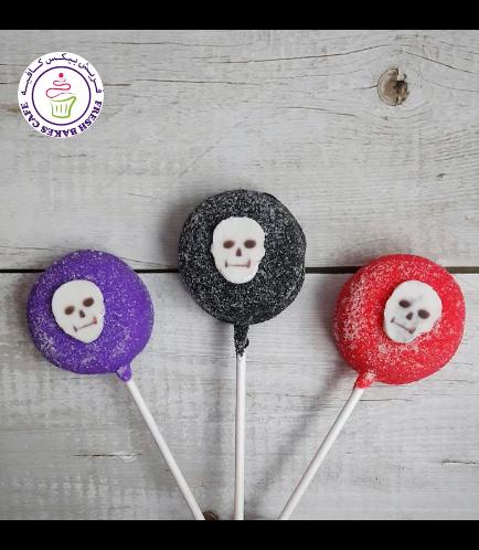 Halloween Themed Donut Pops - Skulls